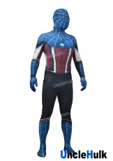 Spiderman in American Captain Style Lycra Zentai Bodysuit Halloween Cosplay Costume -without lenses - SP152 | UncleHulk