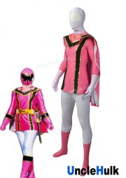 Power Ranger Mystic Force Pink MagiRanger Lycra Spandex and Rubberized Fabric Cosplay Costume | UncleHulk
