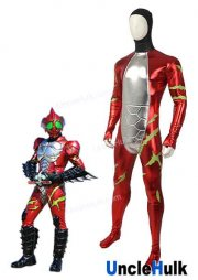 Kamen Rider Amazon Alfa Rubberized Fabric Zentai Costume | UncleHulk