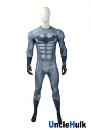 Steel Grey Batman with Sponge Muscle Lycra Zentai Costume | UncleHulk