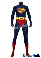 Superman Zentai Costume 2 (normal lycra) (include cloak and Kungfu shoes soles)