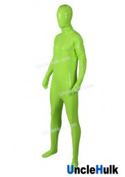 4-Way Elastic PU Zentai Full Bodysuit - only fluorescent green color | UncleHulk