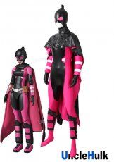 High Quality Gwen GwenPool Cosplay Costume with cloak - lycra and glumming fabric | UncleHulk