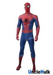 The Amazing Spiderman 2 with Bulgy Line Lycra Zentai Bodysuit Halloween Cosplay Costume | UncleHulk