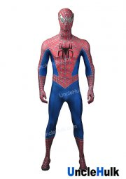Raimi Spiderman Tobey Spiderman Lycra Zentai Bodysuit Halloween Cosplay Costume - SP149 | UncleHulk