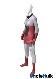 Grey and Red Spandex Lycra Cosplay Costume | UncleHulk