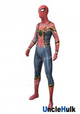 Red and Cyan with Golden Margin Lycra Zentai Bodysuit Halloween Cosplay Costume | UncleHulk