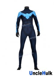 Purplish Blue Nightwing Superior Lycra Zentai Costume