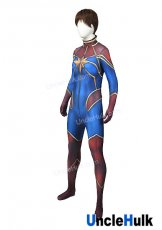 Octagonal Star Hero Red and Blue Spandex Lycra Cosplay Costume | UncleHulk