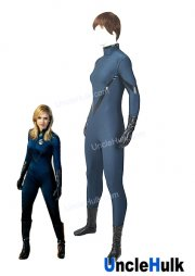 Fantastic 4 Fantastic Four Blue and Black Jessica Alba Invisible Woman Lycra Spandex Zentai Cosplay Costume | UncleHulk
