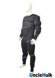 Black Big Muscle Suit - with bigger muscle than usual and a big belly - Santa Claus Inner Muscle Suit | UncleHulk