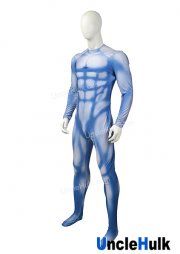 Blue Ink Muscle Shape Lycra Zentai Suit Halloween Costume | UncleHulk