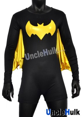 Bat Girl Yellow Black Zentai Costume