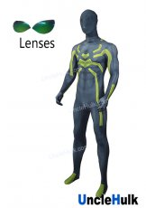 High Quality Big Green Spider Spiderman Lycra Costume - with lenses | UncleHulk