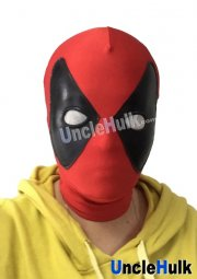Deadpool Hood with Fan-shaped Glumming Eye (no Pony Tail)