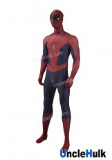 Red and Lavender TASM2 The Amazing Spiderman 2 Lycra Zentai Bodysuit Halloween Cosplay Costume - SP2209 | UncleHulk