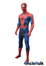 Comic Style Big Eyes Spiderman Lycra Zentai Bodysuit Halloween Cosplay Costume - include Lenses - SP157 | UncleHulk
