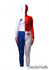 National Flag Spandex Zentai Full Bodysuit (with hood)