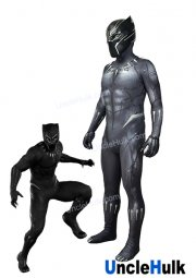Superior Black Panther 2018 Movie Lycra Spandex Zentai Suit Cosplay Costume - enhanced version - handmade draw lines | UncleHulk