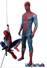 The Amazing Spider-Man 1 Lycra Zentai Bodysuit TASM1 Halloween Cosplay Costume - with reflective lenses | UncleHulk