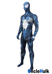 Venom Spiderman Blue and Black Spandex Zentai Cosplay Costume - with lenses | UncleHulk