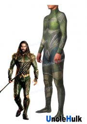 Aquaman of Movie 2018 Jason Momoa Greeen Spandex Zentai Costume Halloween Bodysuit | UncleHulk