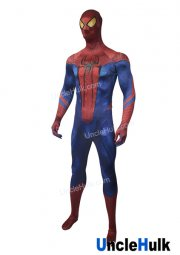Shinning Spiderman with Golden Lenses Lycra Zentai Costume