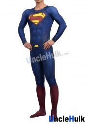Superman Zentai Costume 9 (include cloak and Kungfu shoes soles)