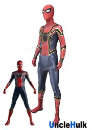 Iron Spiderman in Avengers Infinity War Lycra Spandex Zentai Costume Cosplay Bodysuit | UncleHulk