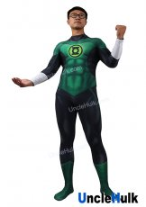 Green Lantern Cosplay Costume Style 4 Spandex Zentai Bodysuit - with Rubber chest logo - SH0504 | UncleHulk