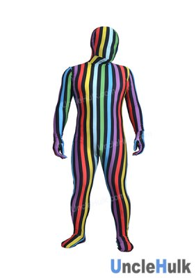 Colorful Stripe Spandex Zentai Full Bodysuit