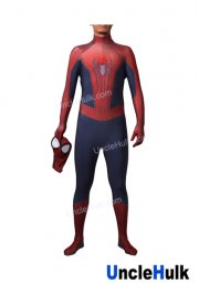 Hood Detachable TASM2 Amazing Spiderman 2 Lycra Zentai Bodysuit - include lenses