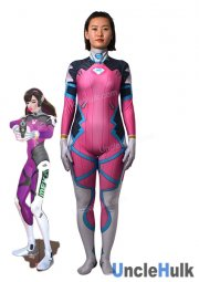 OverWatch Pink D.VA Cosplay Costume