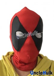 Deadpool Hood with Fan-shaped Glumming Eye and Pony Tail