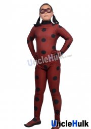 Ladybug Costume | Printed Spandex Lycra Full Bodysuit with Mask
