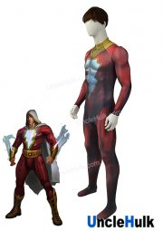 Captain Marvel Shazam Injustice Prime Lycra Zentai Costume