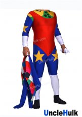 WWE Doink The Clown Wrestling Costume - Multicolor Spandex Lycra Zentai Suit with Coat
