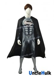 High Quality Grey Superman Costume Printed Spandex Lycra Cosplay Costume - No.15 | UncleHulk