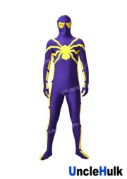 Purple and Yellow Spiderman Zentai Costume