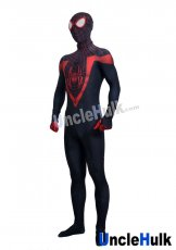 Spiderman Black and Red Lycra Zentai Bodysuit