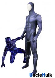 Purple Black Panther 2018 Movie Three Dimensional Printing Zentai Suit Cosplay Costume | UncleHulk