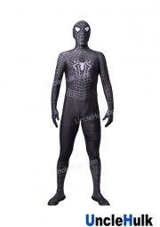 Dark Grey Spiderman Lycra Zentai Bodysuit (include lenses)