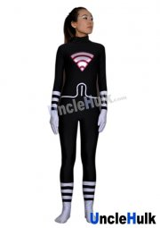 Alya Cesaire Lady Wifi Black and White Spandex Lycra Bodysuit | Miraculous Ladybug