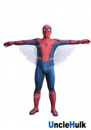 High Quality Silk-Screen Printing Spiderman Homecoming Costume (Tom Holland Spiderman Suit) - with Wings | UncleHulk