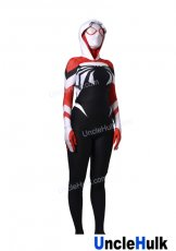 Red and Black Spider Gwen Spandex Lycra Costume (with lenses)