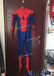 On Sale: Spiderman Homecoming Man Size M Detachable Hood with Lenses and shoes - slight flaw on leg zipper