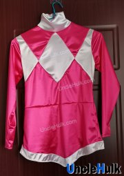 Mighty Morphin Rangers Pink Soldier Satin Fabric Tops and Trousers | UncleHulk