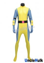X-men Wolverine Yellow and Cyan Spandex Lycra Costume