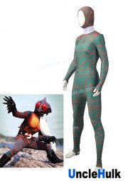 Masked Rider Amazon Lycra Spandex Zentai Costume Cosplay Bodysuit - with white scarf | UncleHulk