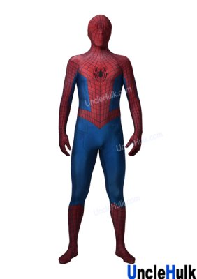 Red and Blue Spiderman Zentai Costume without lenses